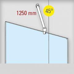 Duschwand Stabilisationsset 45° - Ø19mm - Länge 1.250mm - Edelstahl Design