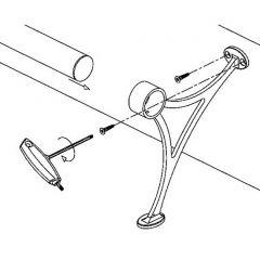 Chrom Design Fußlaufstütze Rohr 38,1 mm 20-0101