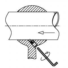 Chrom Design Rohrhalter für Rohr 25,4 mm gewölbt
