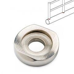 Chrom Design End Rohrhalter für Rohr 50,8 mm gewölbt