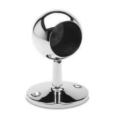 Chrom Design End Rohrhalter für Rohr 38,1 mm gewölbt