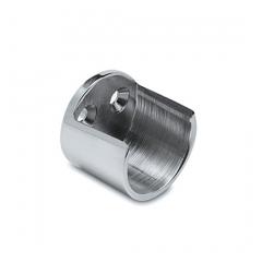 Chrom Design Rohr 25,4 mm Wandflansch offen