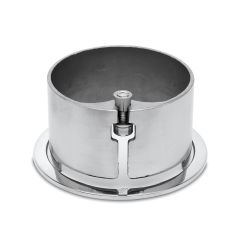 Chrom Design Rohr 101,6 mm Rohrbefestigungshülse