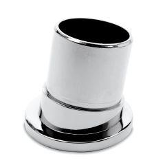 Chrom Design Rohr 38,1 mm Rohrbefestigungshülse 80°