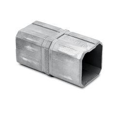 Edelstahl Rohrverbinder Vierkantrohr 35x35 mm - roh