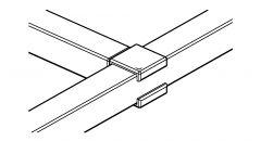 Edelstahl Rohrverbinder Vierkantrohr 35x35 mm - T