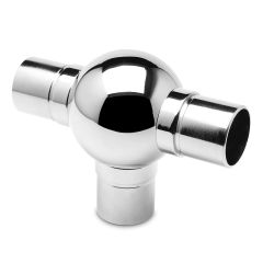 Chrom Design Rohr 25,4 mm Kugelrohrverbinder T