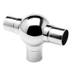 Chrom Design Rohr 38,1 mm Kugelrohrverbinder T
