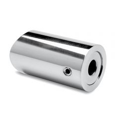 Chrom Design Abstandshalter flach für Rohr 19 mm
