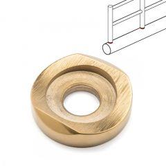 Chrom Design Glasplattenträger für Rohr 25,4 mm - 300 mm