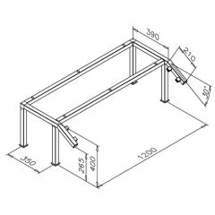 Hustenschutz Gestell 20-021-20 - Edelstahl Design