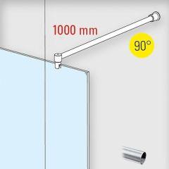 Edelstahl Design - Ø19mm - 1.000mm - Duschwand-Stabilisationsset 90°