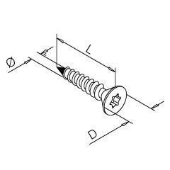Chrom-Design  Holzschraube  Torx - 316