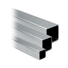 Hustenschutz Pfosten 20x20 - 20-13220 links - Edelstahl matt Design