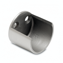 Edelstahl Design Rohr 38,1 mm Wandflansch offen