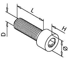 Innensechskantschraube - M 6x12mm Edelstahl - 50 Stück