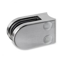 Edelstahl Dsgn Glasklemme 27 - Rohr 25,4 mm - Glas 6-8,76 mm