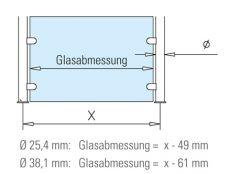 Hustenschutz Gestell 20-040-25 - Rohr 25,4mm - Edelstahl Design