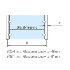 Hustenschutz Pfosten 20-131-25 links - Rohr Ø 25.4 mm - Anthrazit Design