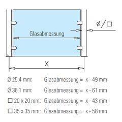 Hustenschutz Gestell 20-011-20 - Edelstahl Design