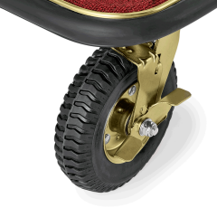 Gepäck Transportwagen 1130x620 mm - Messing Design - ROT