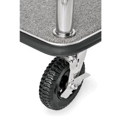 Gepäck Transportwagen 1130x620 mm - Chrom Design - GRAU