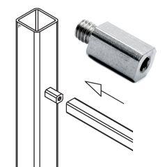 Rohradapter für Edelstahlrohr 8x8 mm