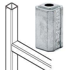 Rohradapter für Edelstahlrohr 20x20 mm