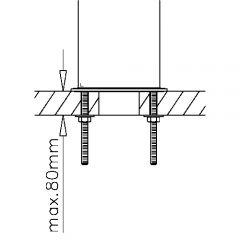 Modell 4550 - 101,6 mm 4 ltg Edelstahl Schanksäule