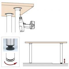 Edelstahl Design Tischfuß 20-62038 - Rohr Ø 38.1 mm