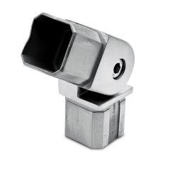 Edelstahl Rohrverbinder Vierkant 35x35 mm - variabel