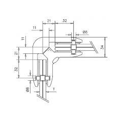 Chrom Design Tischfuß 20-620-50 - Rohr Ø 50.8 mm