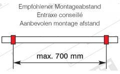 Edelstahl Design Rohrhalter gewölbt für Rohr 25,4 mm