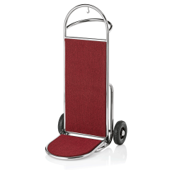 Gepäck Transportkarre 610x705 mm - Chrom Design - ROT