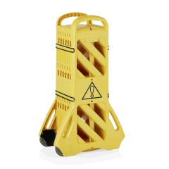 Mobile Absperrung - Kunststoff gelb