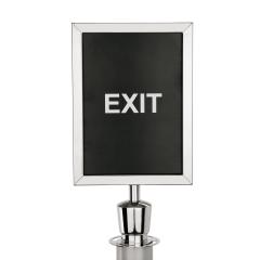 Schilderhalter für Abgrenzungspfosten Chrom Design - ECO-Z