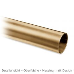 Hustenschutz Pfosten 20-111-25 links - Rohr Ø 25.4 mm - Messing matt Optik
