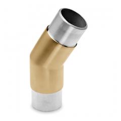Messing matt Design Rohrverbinder 30° für Rohr 38,1 mm