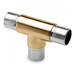 Messing matt Design Rohrverbinder T für Rohr 38,1 mm