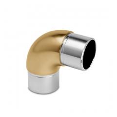 Messing matt Design Rohrbogen 90° für Rohr 38,1 mm