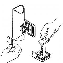 Messing Design Glasklemme - 21 - Rohr 38,1 mm - Glas 6-10 mm