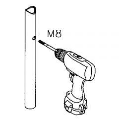 Chrom Design Glasklemme - 20 - Rohr 38,1 mm - Glas 6-8 mm