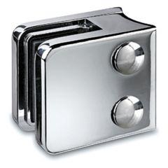 Chrom Design Glasklemme - 21 - Rohr 38,1 mm - Glas 6-10 mm