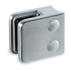 Edelstahl V2A Glasklemme - 21 - Rohr 38,1 mm - Glas 6-10 mm