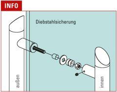 Edelstahl Türgriff Modell 475812 - 38,1 mm - L 1200 mm
