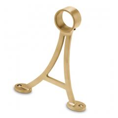 Messing matt Design Fußlaufstütze Rohr 50.8 mm 20-0103