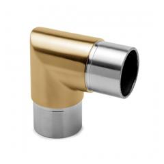 Messing matt Design Rohrwinkel 90° für Rohr 25,4 mm