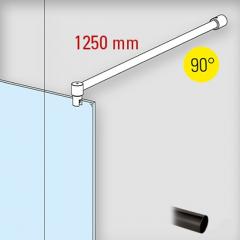 Anthrazit Design - Ø19mm - 1.250mm - Duschwand-Stabilisationsset 90°