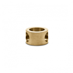 Messing matt Design MiniRail Adapter 45 Grad für Stab 6mm