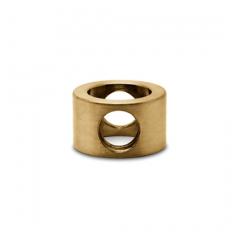 Messing matt Design MiniRail Adapter Mittelstück für Stab 10mm